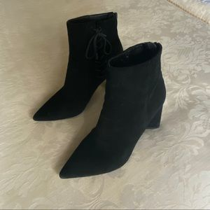 Kendall & Kylie 'Gretchen' Suede Heeled Booties